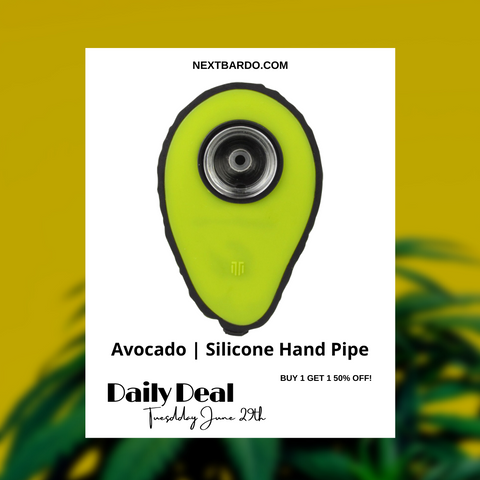 Tuesday June 29th Daily Deal   Buy 1 Avocado silicone pipe and get a 2nd for 50% off