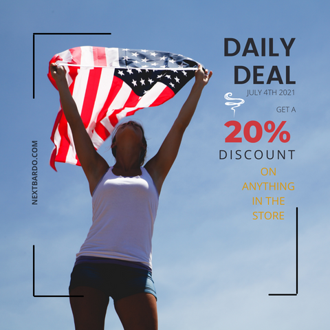 Friday July 4th Dily Deal   20% off everything in the store