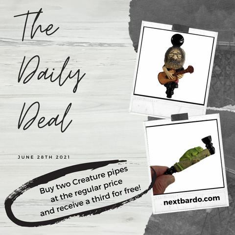 Monday June 28th Daily Deal   Buy 2 character hand pipes and get one free
