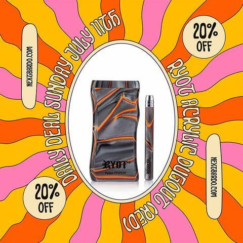 Daily Deal Sunday July 11th | 20% off on Red Acrylic Dugout Pipes from RYOT