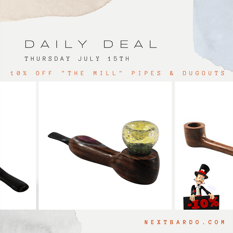 """Daily Deal Thursday July 15th   10% off of all products from """"The Mill"""""""