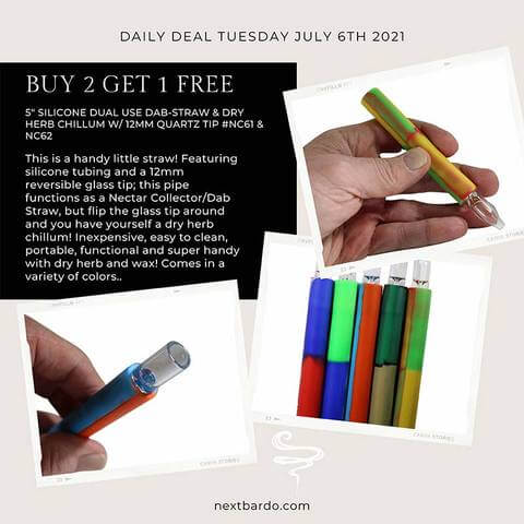 Daily Deal Tuesday July 6th | Buy 2 get 1 free Nectar Collector Chillums