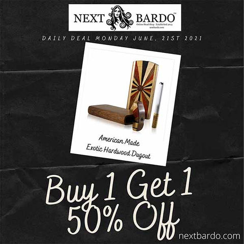 Monday June 21st Daily Deal   Exotic Hardwood Dugout - Buy 1 get 1 50% off