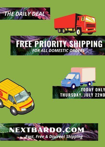 Discount - Free USPS Priority shipping for ALL orders today