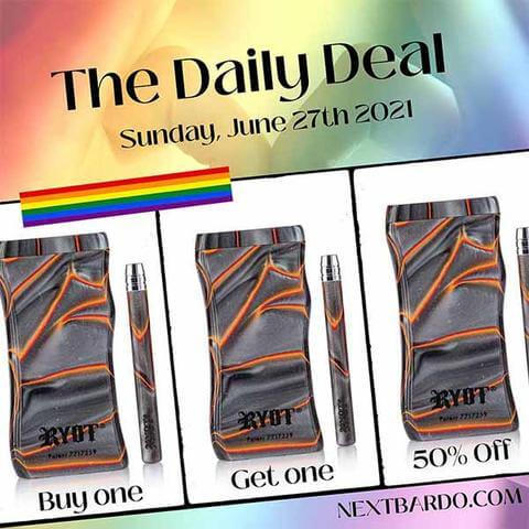Sunday June 27th Daily Deal | RYOT Red large acrylic dugout - Buy 1 get 1 50% off