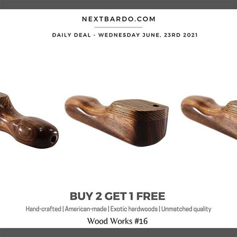 Wednesday June 23rd Daily Deal   Hardwood Smoking Pipes #WW16 - Buy 2 get 1 free