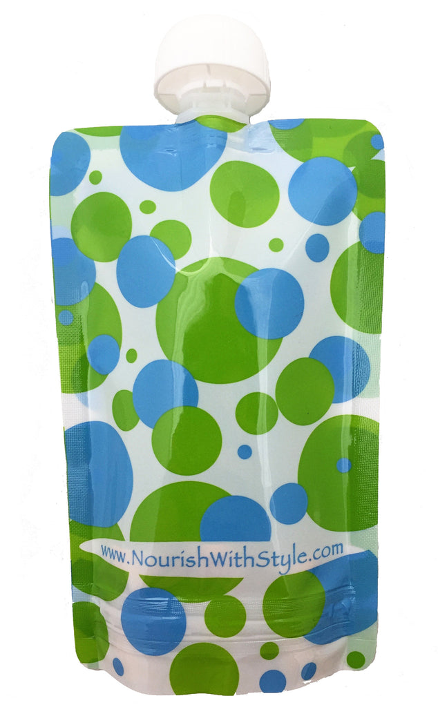5 Pack | Polka Dot Reusable Food Pouch