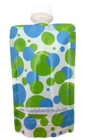 10 Pack | Polka Dot | Reusable Food Pouch