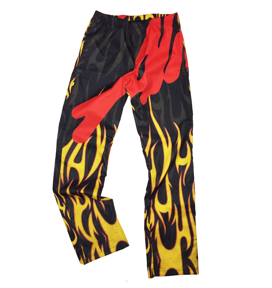 ALIVE AND MORE COTTON LOUNGE PANTS - HOT WINGS
