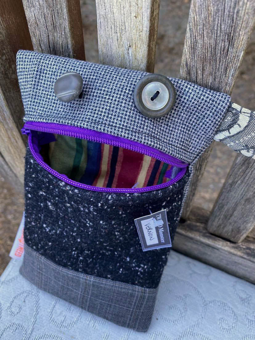 Recycled Tweed Monster Purse | VERNON