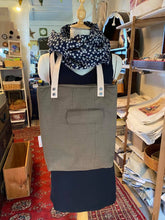 Load image into Gallery viewer, Recycled Jacket Shopping Tote with leather straps | JANE