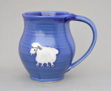 Load image into Gallery viewer, Cobalt Blue Mug with Sheep