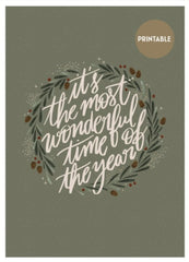 """Illustration """"It's the most wonderful time of the year"""" de L'Atelier Mouette"""