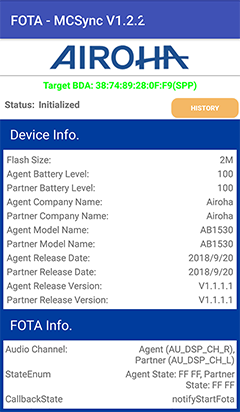 Airoha AB1530 chip testing in Andriod