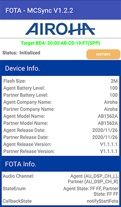 Airoha AB1562A testing chip in Andriod, True TWS Earbuds testing
