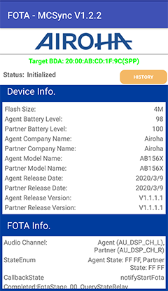 Airoha AB1562X  chip testing in Andriod, TWS Earbuds