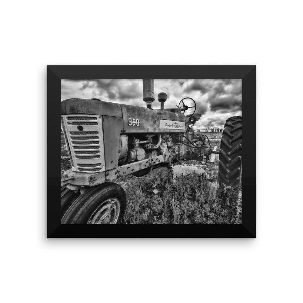 Unyielding Framed Black and White Poster