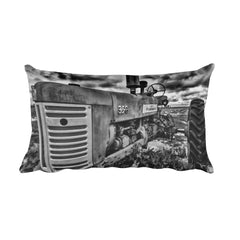 The Foundation Black and White Rustic Tractor Throw Pillow