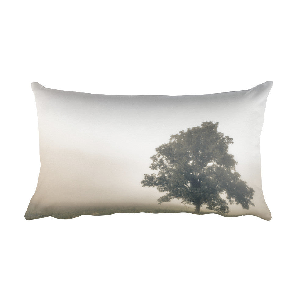 Paradise Haze Rectangular Tree Throw Pillow