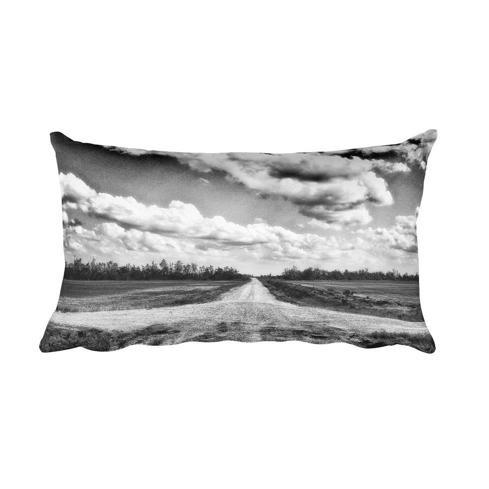 Crossroads Black and White Throw Pillow