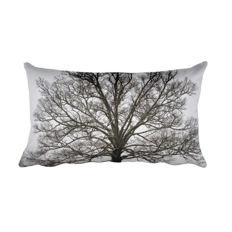 Exposed Tree Throw Pillow