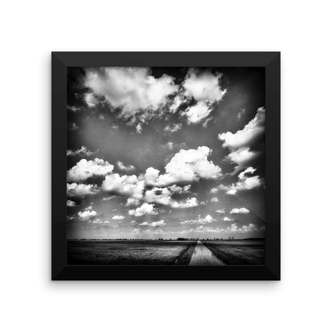 Shine Down Framed Black and White Poster