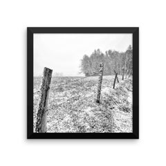 Frosted Framed Black and White Poster