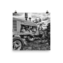 Big Red Unframed Black and White Poster