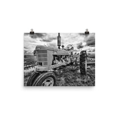 Earnest Unframed Black and White Poster