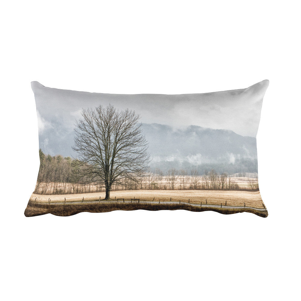 Solitude Rectangular Tree Throw Pillow