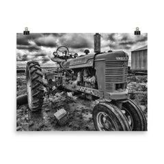 Strong and Steady Unframed Black and White Poster