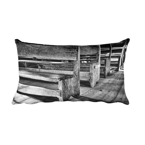 All Things Black and White Rectangular Pillow