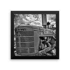 Harvest Framed Black and White Poster