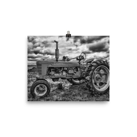 Tough as Nails Unframed Black and White Poster