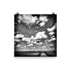 Shine Down Unframed Black and White Poster