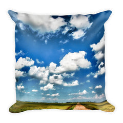 Shine Down Square Dirt Road Throw Pillow