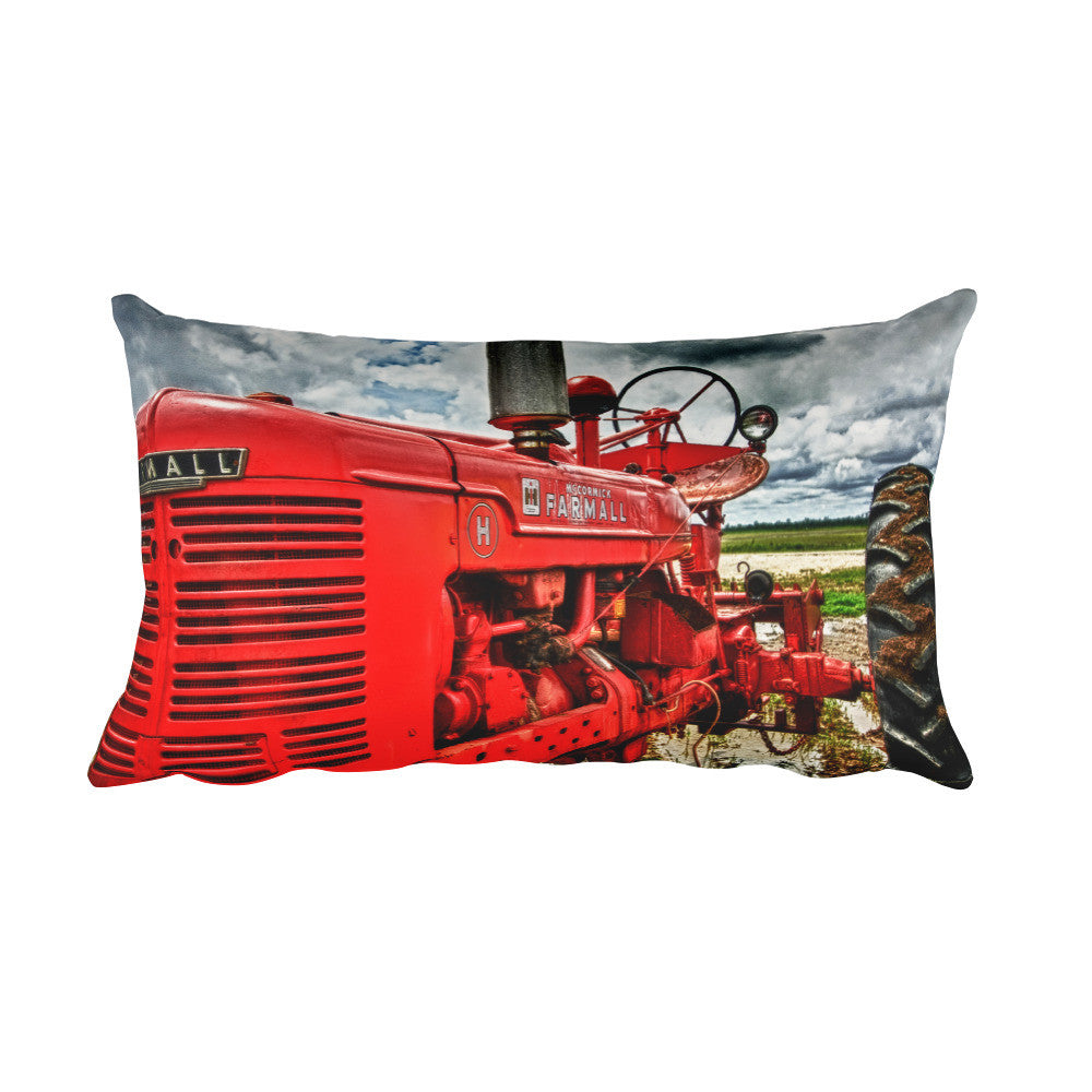Harvest Rectangular Tractor Decorative Pillow