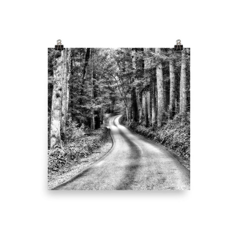 A Better Highway Unframed Black and White Poster