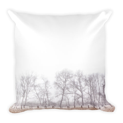On the Outskirts Square Farmhouse Decorative Pillow
