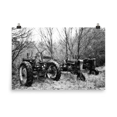 Three of a Kind Unframed Black and White Poster