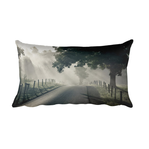 Misty Rectangular Farmhouse Decorative Pillow