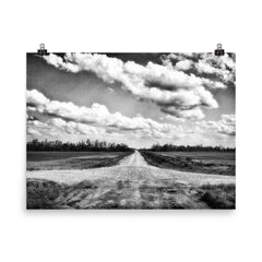 Crossroads Unframed Black and White Poster