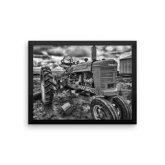 Strong and Steady Framed Black and White Poster