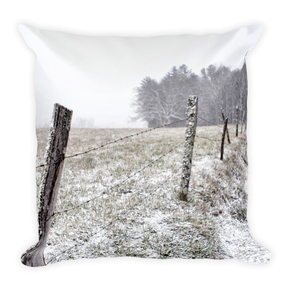 Frosted Square Throw Pillow