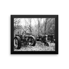 Three of a Kind Framed Black and White Poster