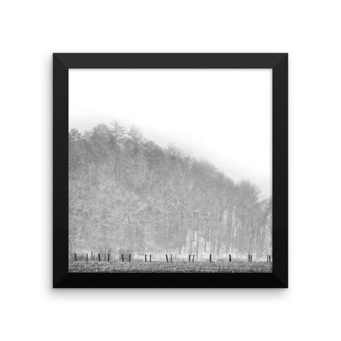 Guided Path Framed Black and White Poster