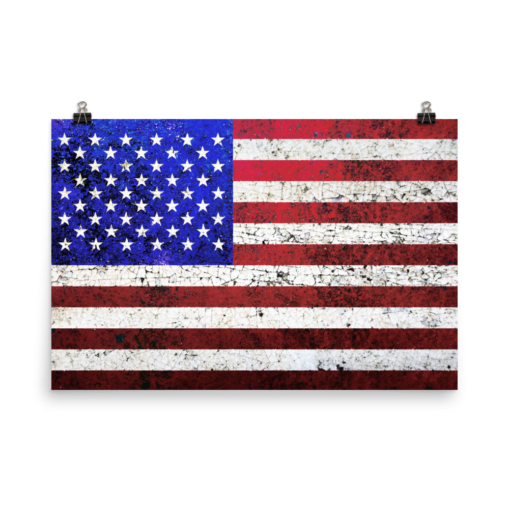 Folk Art American Flag Unframed Poster