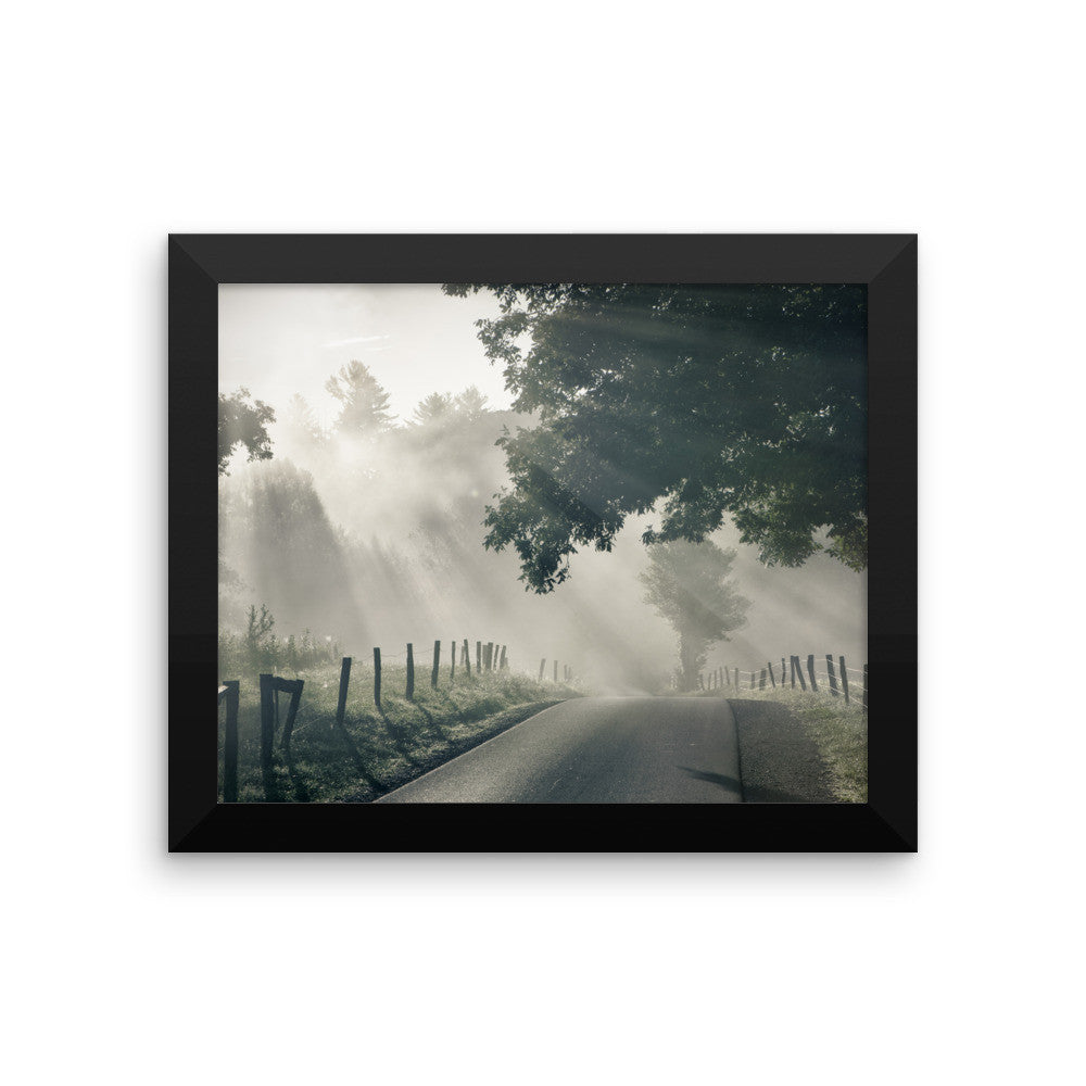 Misty Framed Poster