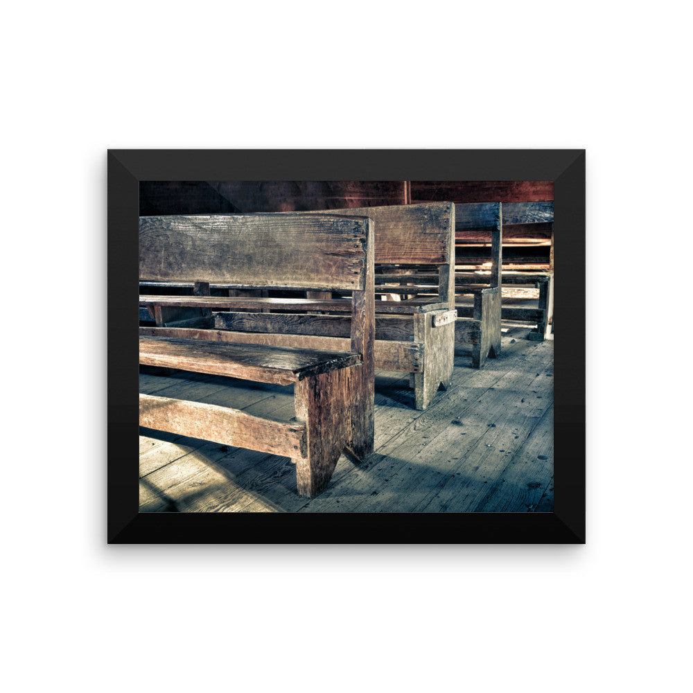 Rustic Church Pews Country Artwork for Sale