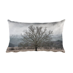Mighty Rectangular Tree Throw Pillow